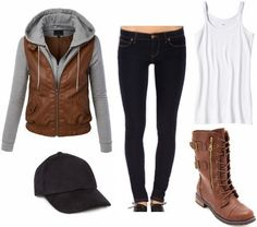 Product Information: Jacket – Amazon, Jeans – Forever 21, Cami – Target, Shoes – Charlotte Russe, Hat – Forever 21