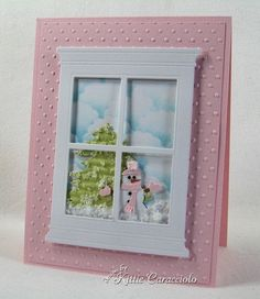 Pink plus the Grand Madison Window die by Poppystamps :-)