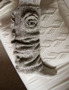 Crochet boot sock with rose. With my black boots?