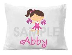 Cheerleader Personalized Pillow Case by TheTrendyButterfly on Etsy,
