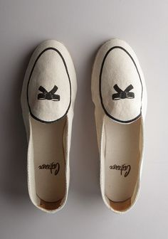 I love these shoes. I am going to make my own version with some of my old shoes next week!