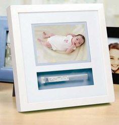 Baby Hospital ID Bracelet Frame Keepsake Shadow-Box