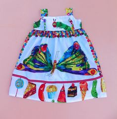 Very Hungry Caterpillar Butterfly Knot  Dress by WildOliveKids, $36.00