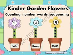 Kinder-Garden Flowers~Giveaway!! ! Enter for your chance to win 1 of 2.  Kinder-Garden Flowers Counting, Number Words, Sequencing (10 pages) from 123kteach on TeachersNotebook.com (Ends on on 8-23-2014)  Amazing giveaways throughout the month of August. Please consider becoming a follower to get these special updates on giveaways, upcoming sales and new products posted.  Have a great school year!