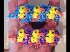 Rainbow Loom DUCKLING Bracelet. Designed and loomed by jordantine1. Click photo for YouTube tutorial. 04/04/14