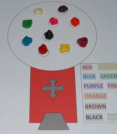 10 Color Created Gumballs - Gumball Machine is free to print