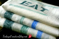 Homemade Gifts- Painted kitchen Towels - Today's Creative Blog