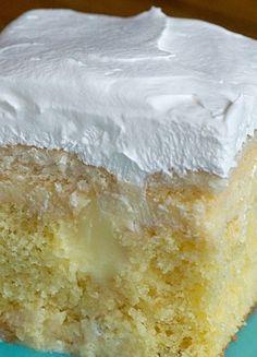 Banana Cream Poke Cake