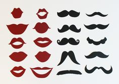 diy photocal, birthday, photo booth props, lip stencil, lips stencils