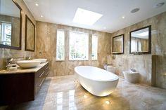 Two amazing bathrooms designed by Sanchez Blanca