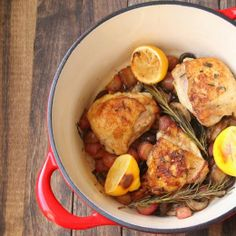 #Whole30 Lemon and Mushroom Chicken