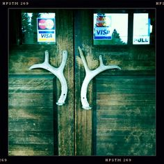 genuine deer antler door handles - love