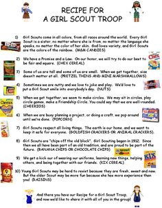 recipe for a girl scout troops