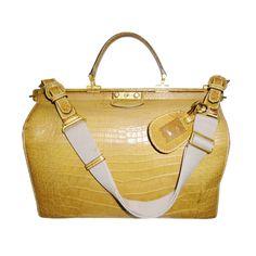 1stdibs | Gucci Alligator Large Doctor Travelling bag