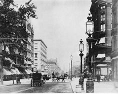 Fifth Ave at 22nd Street, During the Gilded Age in NYC. c.1889. Ephemeral NY