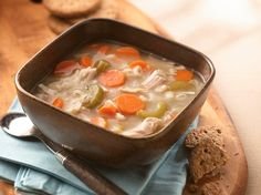 Classic Turkey Soup uses up every last bit of the leftovers. Use turkey breast for Phase 1, or light and dark meat for Phase 3.