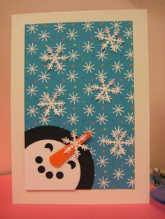 handmade snowman cards - Google Search