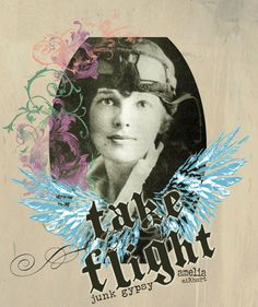 take flight. our ode to Amelia Earhart. {junk gypsy co}