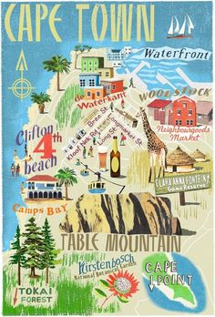 Cape Town map by Anna Simmons