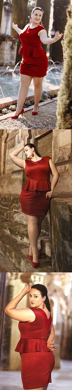 vestido curto para gordinhas vermelho #plussize #plus-size #curves #gordinhas ----------------------------------------- http://www.vestidosonline.com.br/modelos-de-vestidos/vestidos-gordinhas