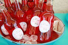 sodas, birthday parti, soda bottles, color schemes, soda pop, drink, vintage party, vintage toys, parti idea