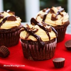 Reeses Peanut Butter Cupcakes by ModernMom