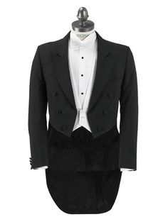 Digitally altered image of white tie. Original showed shirt bellow waistcoat