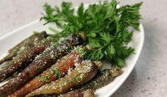 Seasonal Chef Recipe: Roasted Carrots with Carrot Top Pesto - Small Bites