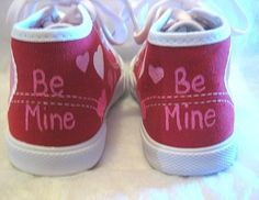 Shoes Valentine's Day Hearts Hand Painted by boygirlboygirldesign, $30.00