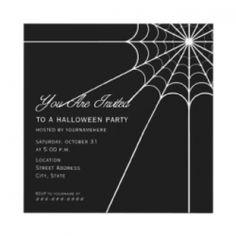 Spider web Halloween Vow Renewal Invitation