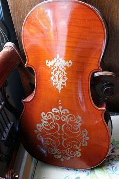 Painted cello...the design is amazing!