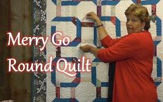 The Merry Go Round Quilt, Jenny Doan and Missouri Star Quilt Company makes piecing so simple.