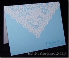 Simple square paper doily card