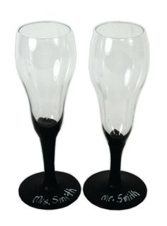 Mr. & Mrs. Chalkboard Glasses. A project sheet for this project can be found here: http://www.craftsdirect.com/default.aspx?PageID=311=966