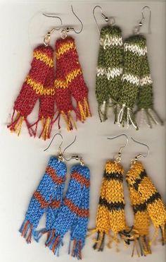 Harry Potter Scarf Earrings..