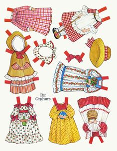 loads of paper doll printables, magnets?