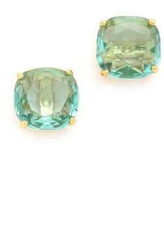 studs, york small, squares, squar stud, style, small squar, stud earrings, jewelri, kate spade