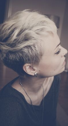 Pixie Cropped. Short Shaved Side
