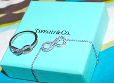 Tiffany infinity ring and necklace.