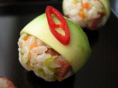 avocado rice rolls