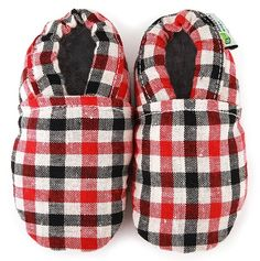Plaid Baby Shoes.