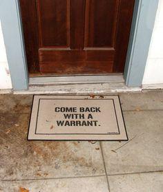 door mat.