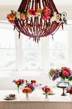 Floral infused table