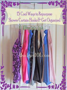 How to Repurpose Shower Curtain Hooks