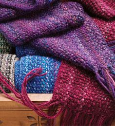 Free Scarf Knitting Patterns: Spontaneous Knitting @Anna Lucas Daily @spinny Daily