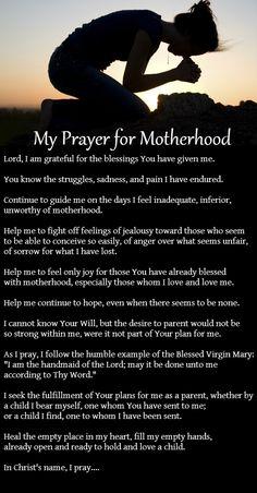 My Prayer for Motherhood