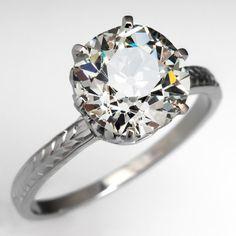 Old Euro Diamond Engagement RIng