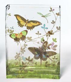 Glass vase.