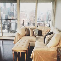 Cream and Grey Living Room | Carly Cristman