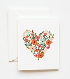 Rifle Paper Co | Floral Heart Card